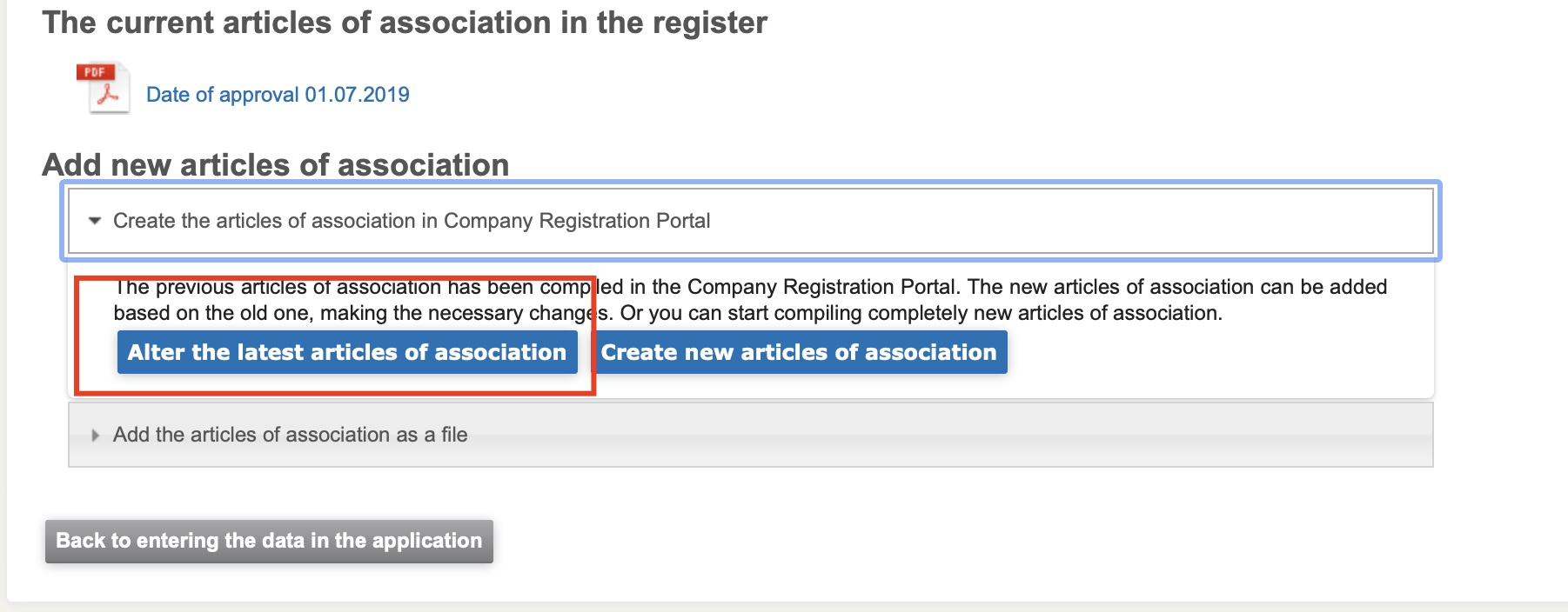 change the name of your company, How to change the name of your company in the Business Registry